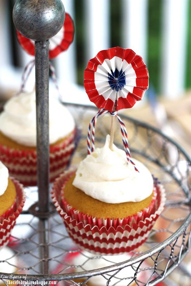 Americana cupcakes
