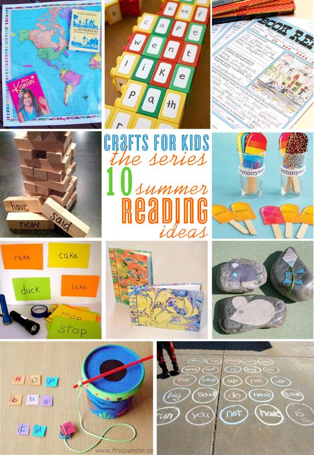 Summer reading kid craft ideas