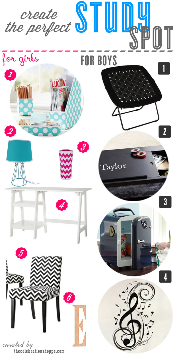 Back to School Study Spot | curated by thecelebrationshoppe.com