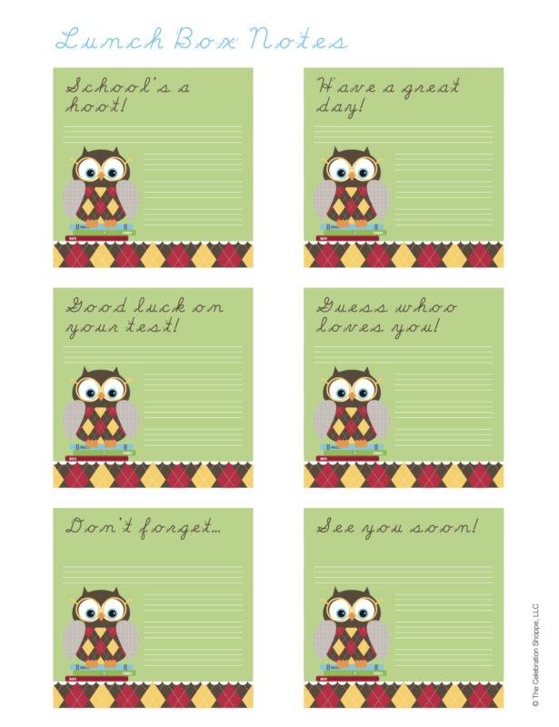 Lunch Box Notes For Back To School | Kim Byers