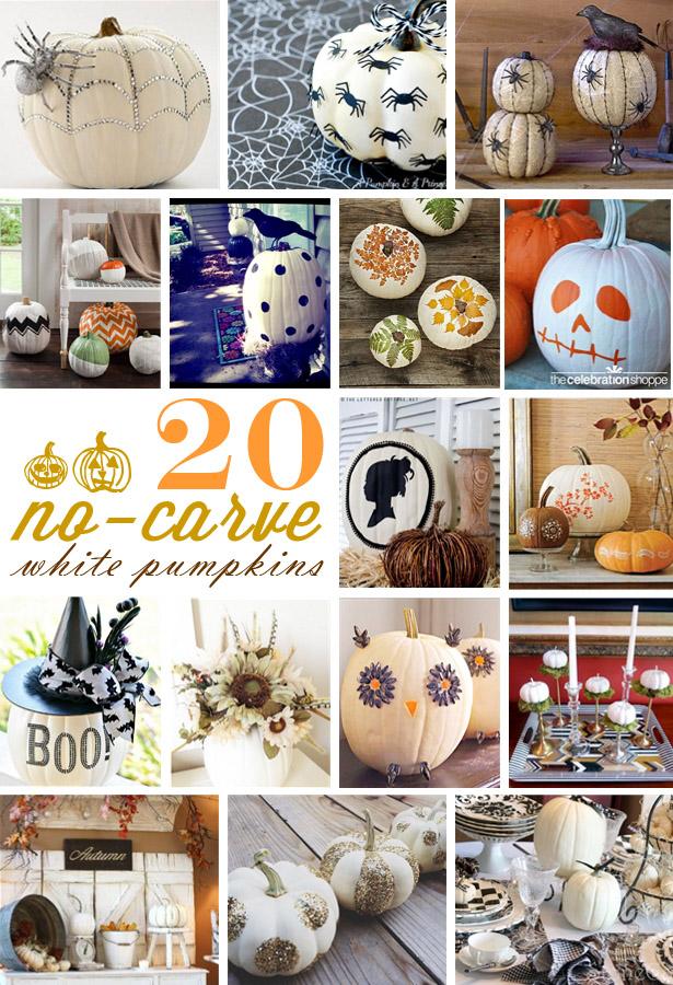 20 no carve white pumpkin decorations