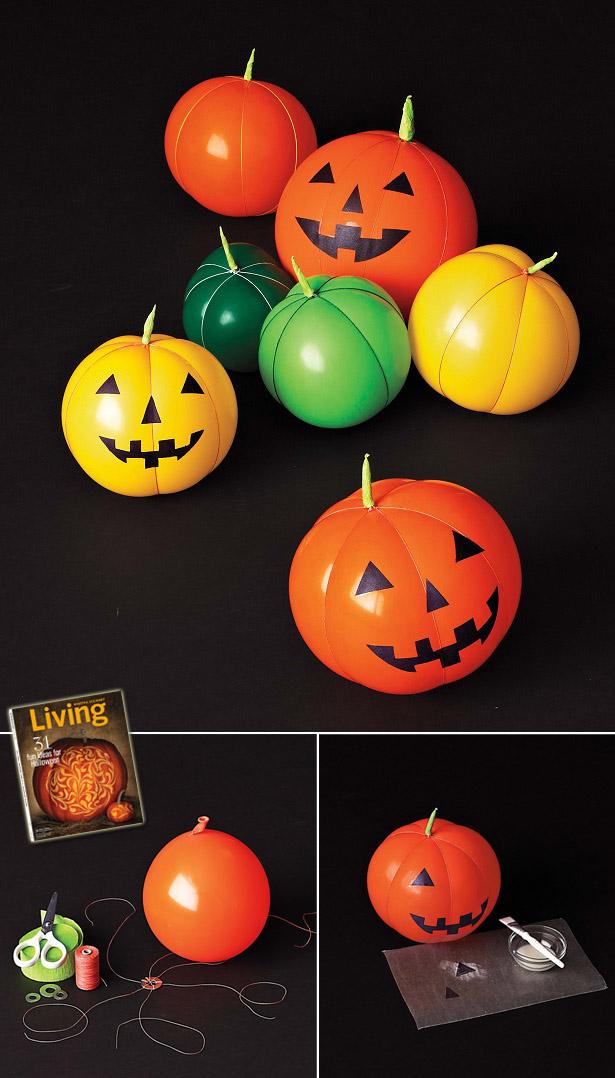 Balloon jack o lanterns