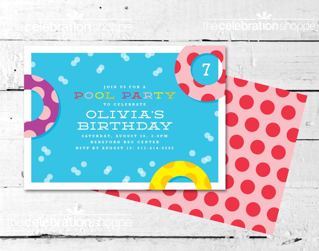 Pool party invite
