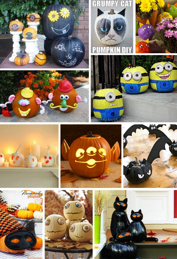 silly and spooky halloween pumpkins   Kim Byers