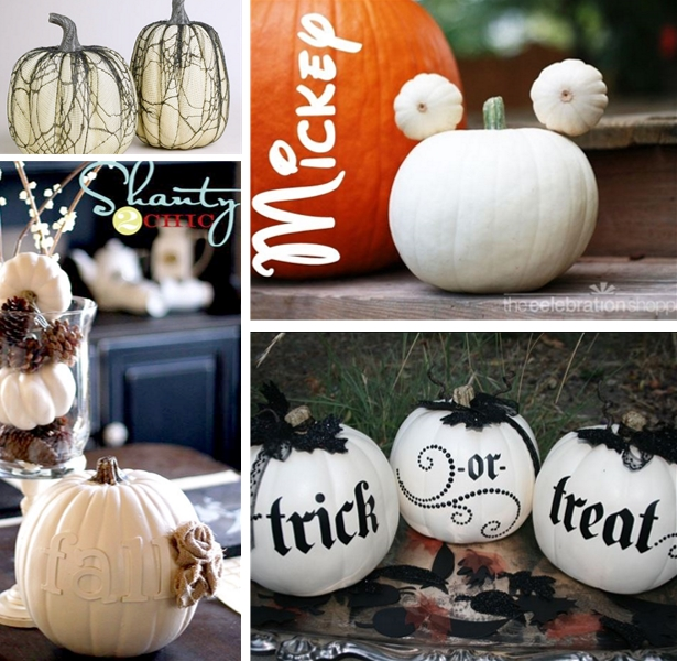 Decorating with white pumpkins | Kim Byers