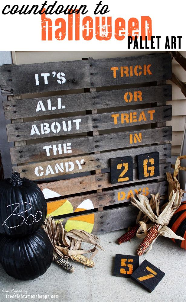 Countdown to halloween pallet art web