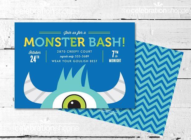 Monster party invitation thecelebrationshoppe