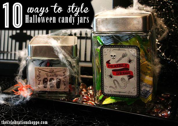 The celebration shoppe halloween candy jars 1341wt