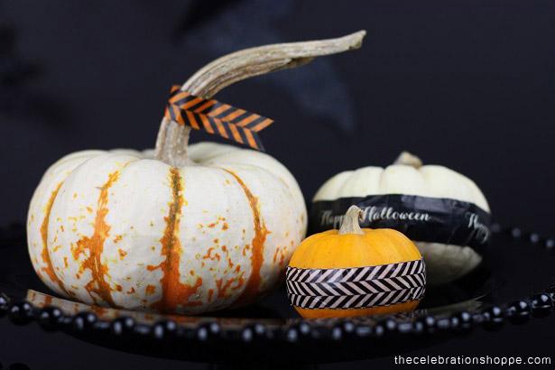 No-carve pumpkin decorating with Washi Tape | Kim Byers