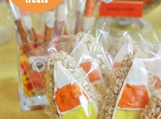 The celebration shoppe candy corn krispie treats e