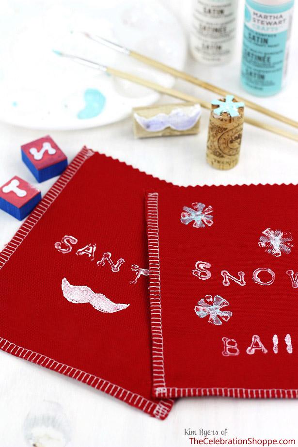 How to make Santa Stache Goodie Bags | TheCelebrationShoppe.com