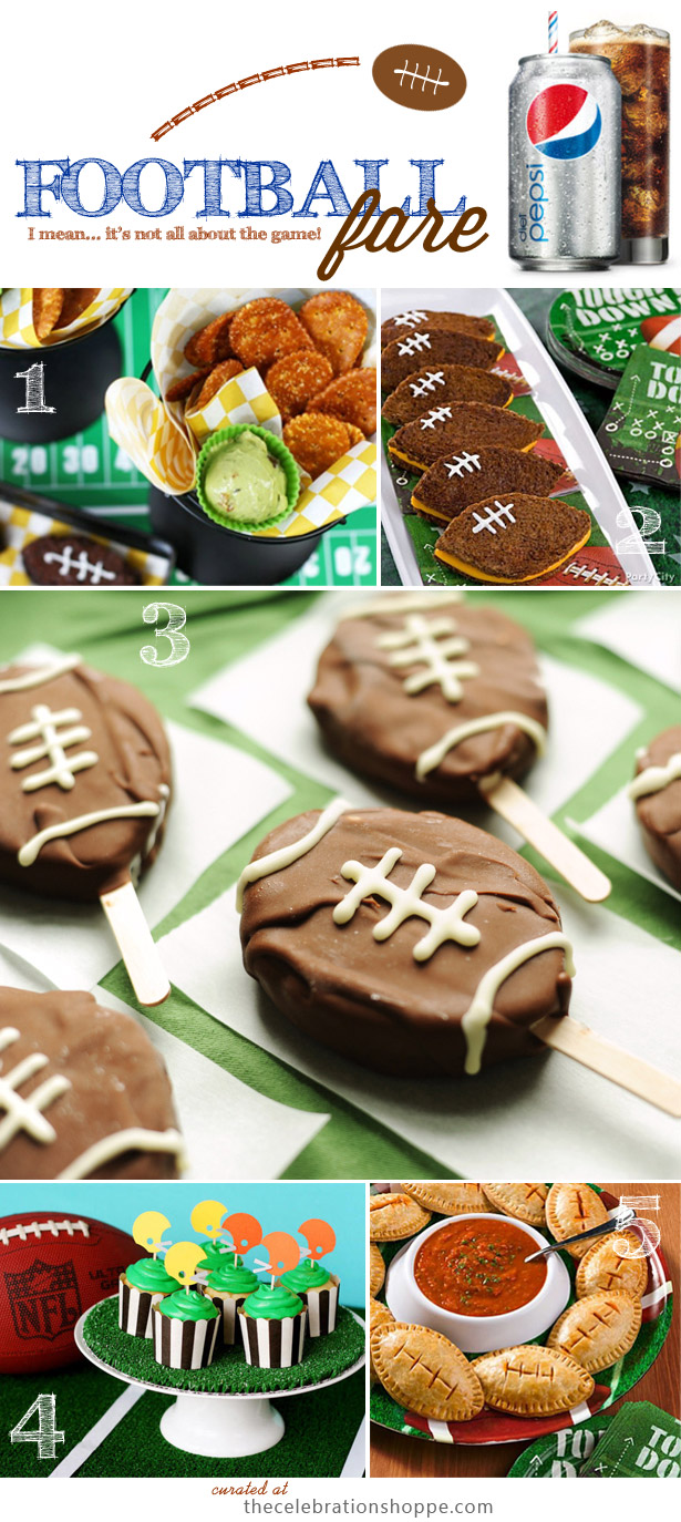 Football fare with diet pepsi