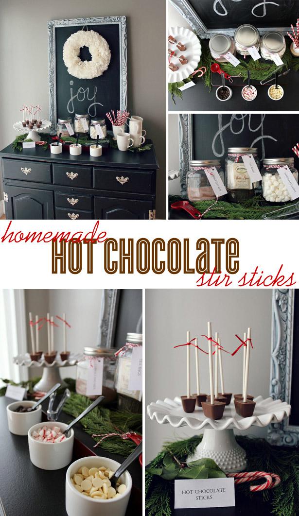 Homemade Hot Chocolate Stir Sticks & Bar Service
