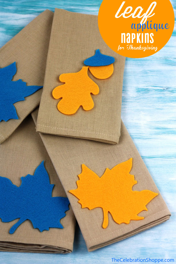 The celebration shoppe leaf applique napkins 1182wt