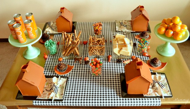 Mod Thanksgiving Kids Table   Not Just A Mommy via TheCelebrationShoppe.com