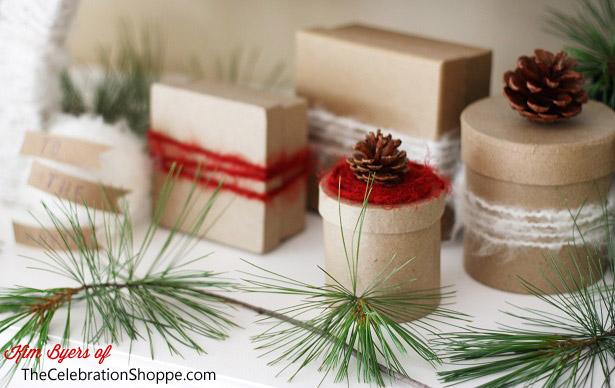 4 the celebration shoppe hgtv christmas mantel gift boxes 2513wl