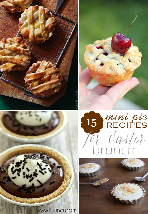 15 mini pies for easter brunch