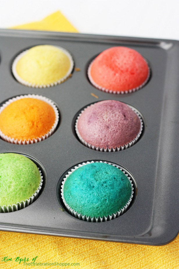 Rainbow Cupcakes | Kim Byers, TheCelebrationShoppe.com