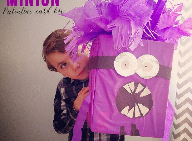 Despicable me minion valentine card box
