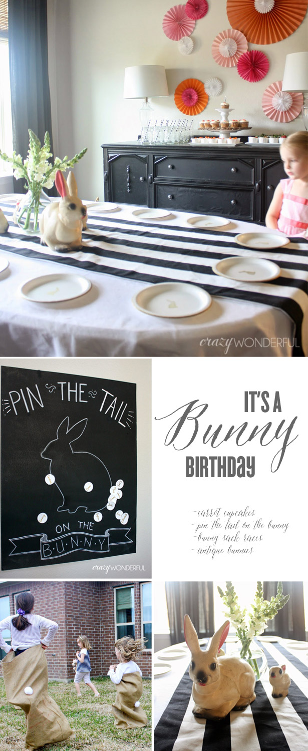 Bunny party with crazy wonderful