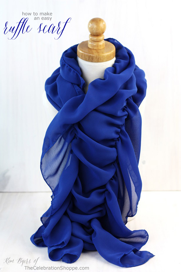 How to make a ruffle scarf kim byers dazzling blue