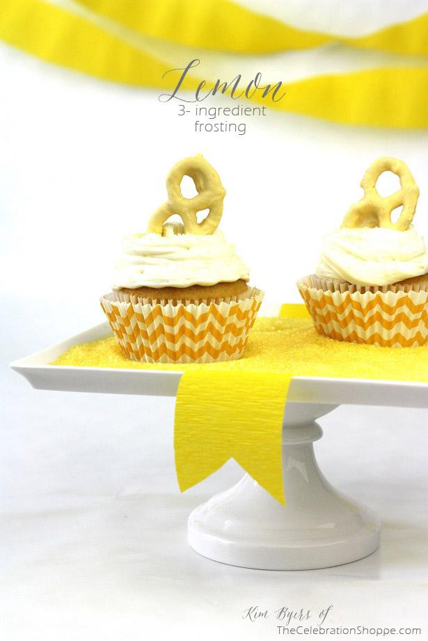 3-Ingredient-Lemon Frosting | Kim Byers, TheCelebrationShoppe.com