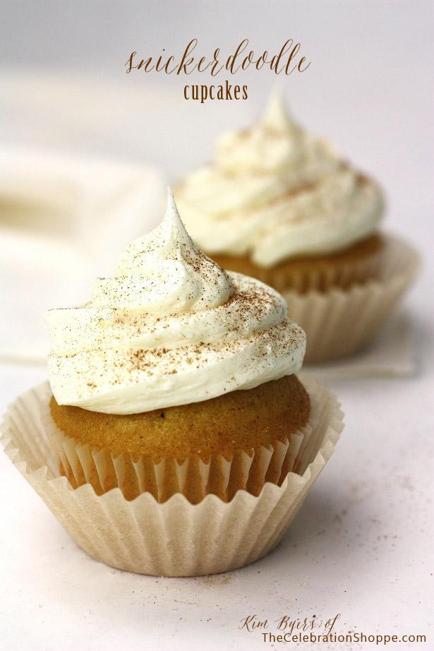 Snickerdoodle Cupcake Recipe | Kim Byers, TheCelebrationShoppe.com