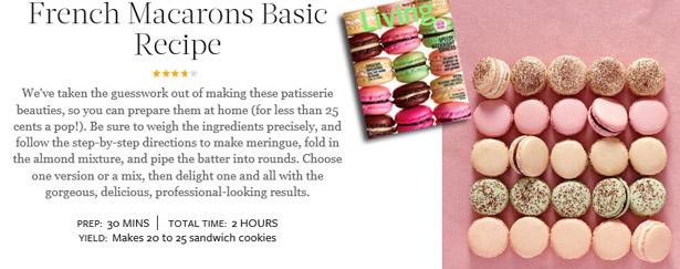 French Macarons Basic Recipe via Martha Stewart