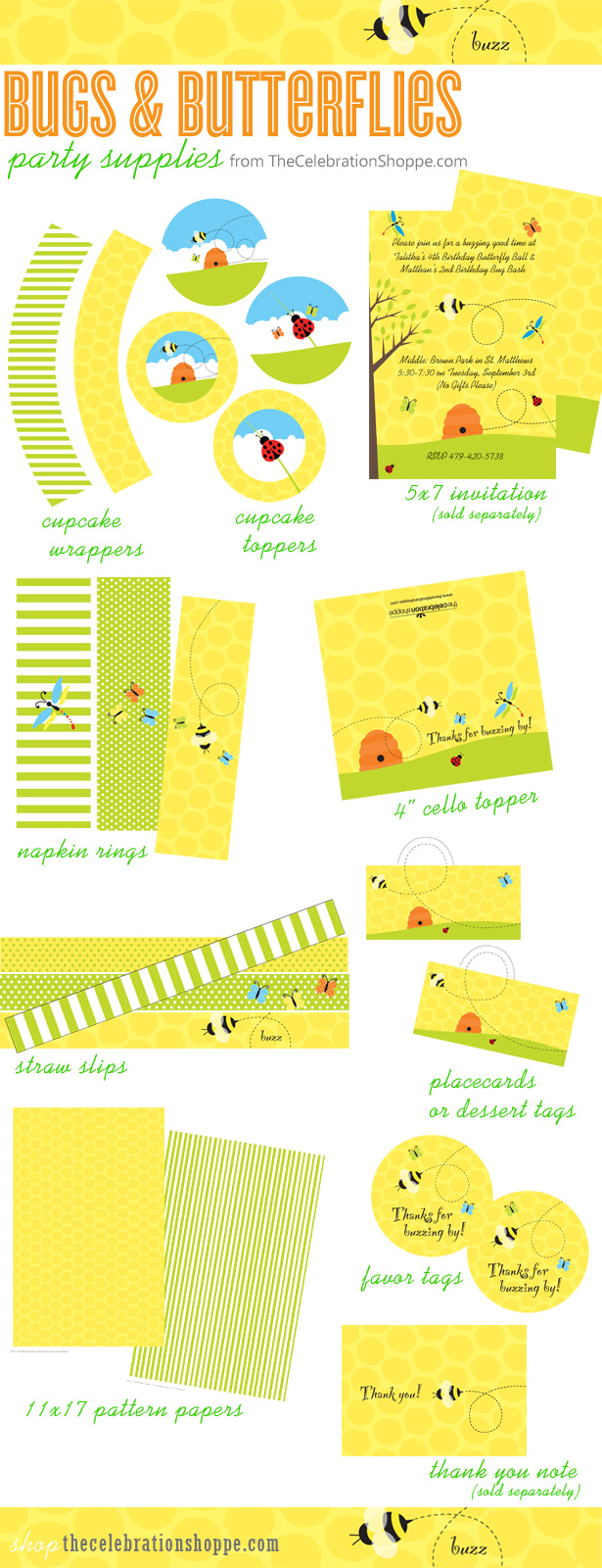 Bugs butterflies party supplies the celebration shoppe kb