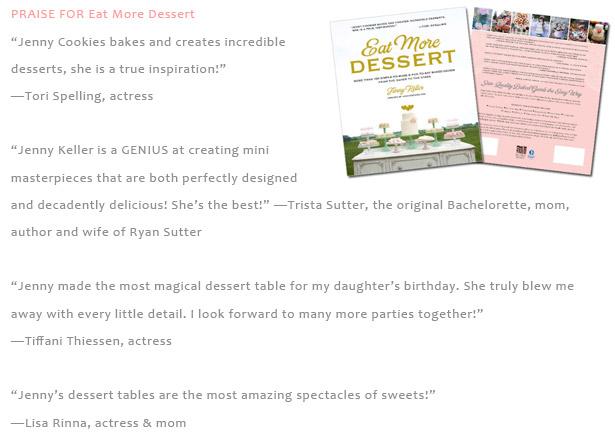 Praise for Jenny Keller's Book Eat More Dessert