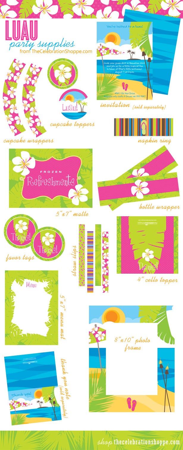 Luau party supplies1