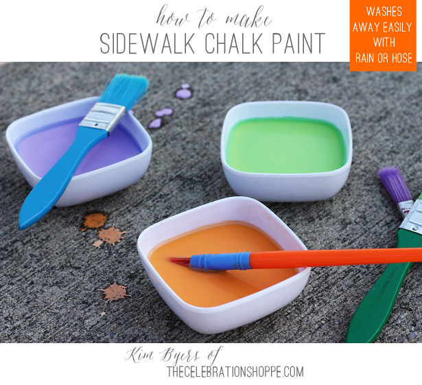 How To Make Sidewalk Chalk Paint | Kim Byers, TheCelebrationShoppe.com