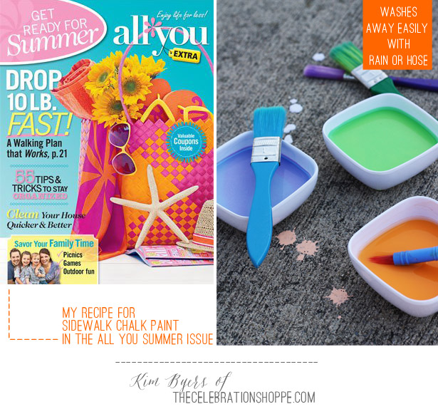 How To Make Sidewalk Chalk Paint | Kim Byers Featured in All You Magazine