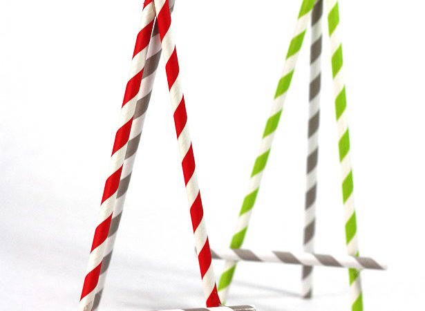 Paper straw easel craft kim byers