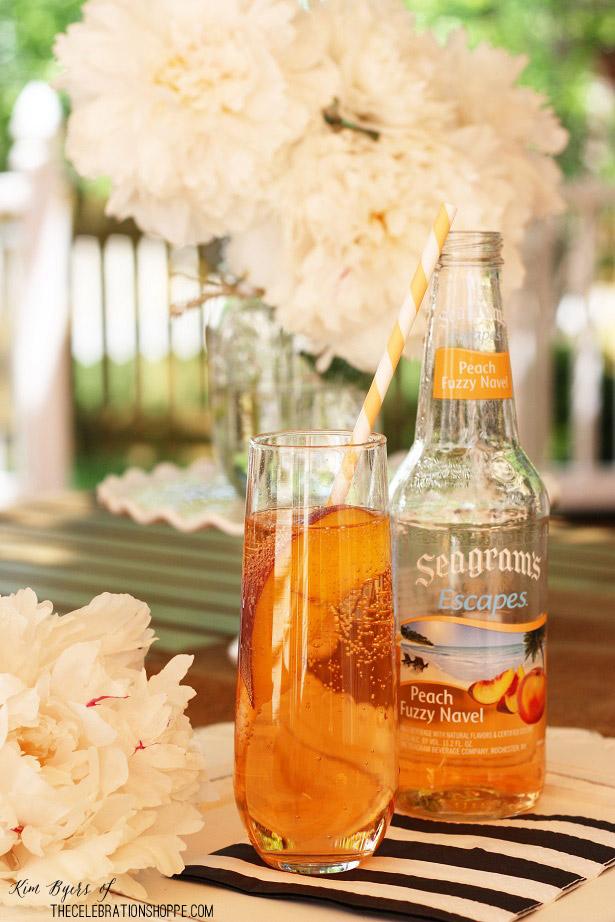 Peach & Mint Bridal Shower Ideas | Peach Cocktail | Kim Byers, TheCelebrationShoppe.com