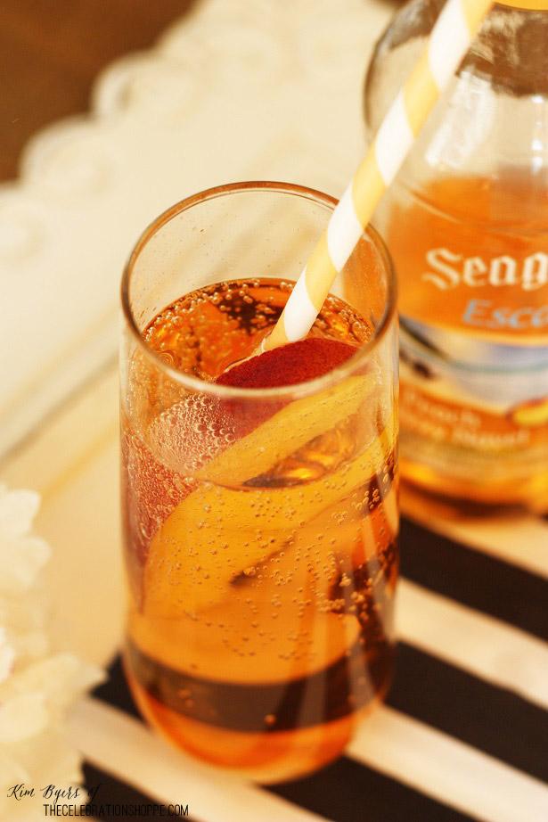 Peach Cocktail | Kim Byers, TheCelebrationShoppe.com