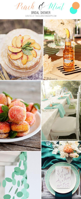 Peach & Mint Bridal Shower | TheCelebrationShoppe.com