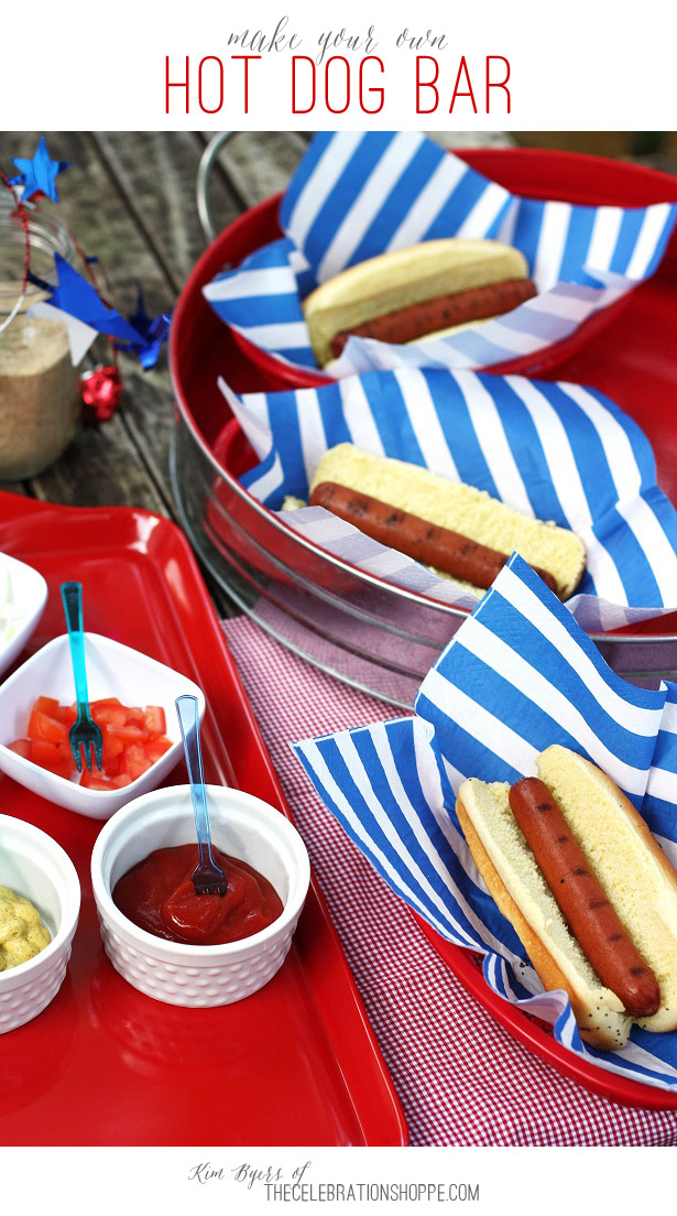 How To Make Your Own Hot Dog Bar | Kim Byers, TheCelebrationShoppe.com