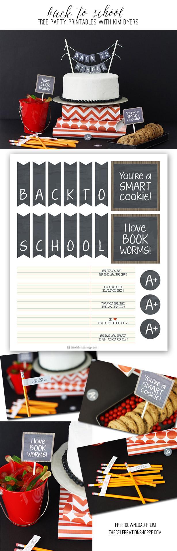 Back To School Party + Free Printables | Kim Byers, TheCelebrationShoppe.com