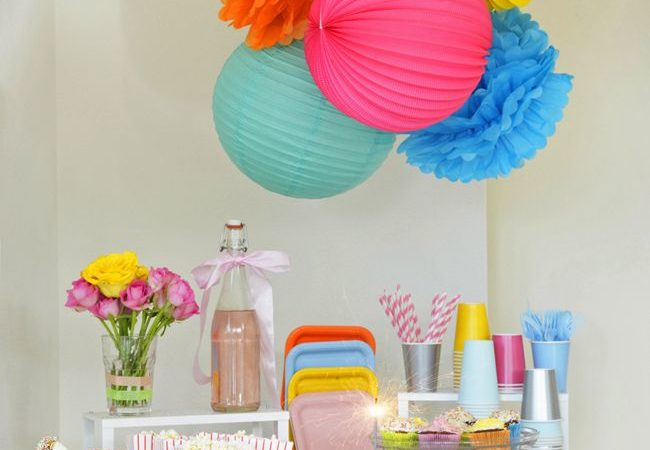 Bright lanterns party from lantern and lampion
