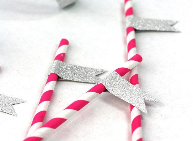 Glitter straw slips kim byers