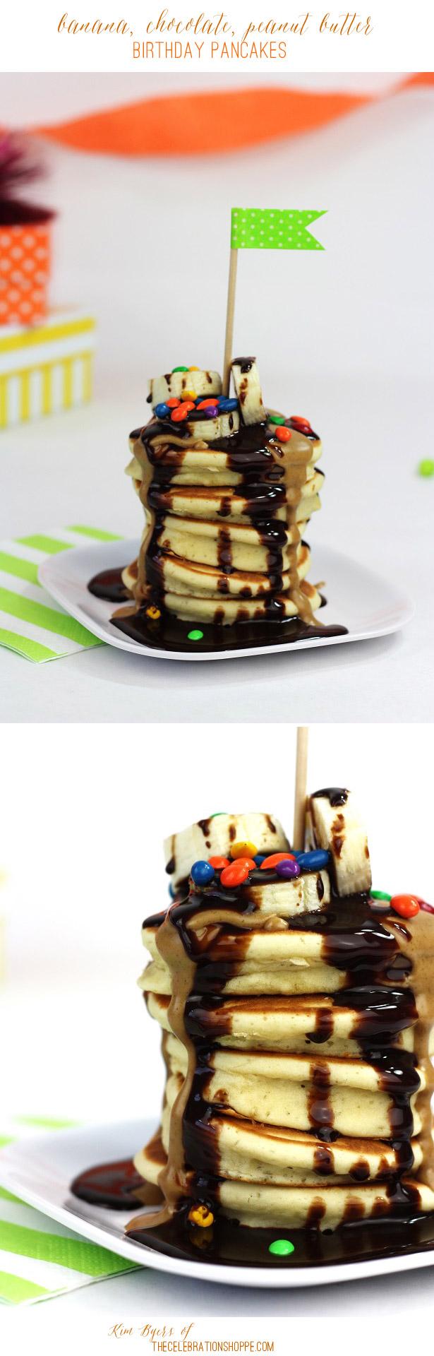 Peanut butter chocolate birthday pancakes kim byers