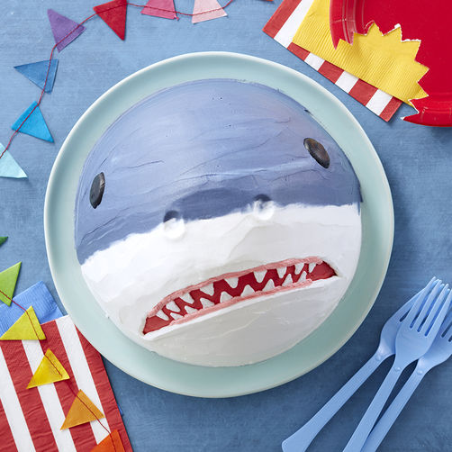 Easy Shark Shaped Cake
