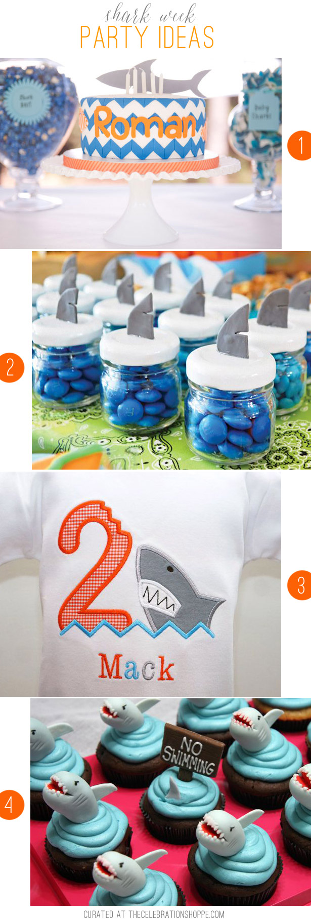 Shark Week Party Ideas | Curated at TheCelebrationShoppe.com
