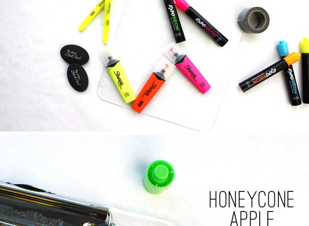 Back to school teacher gift with honeycone apple