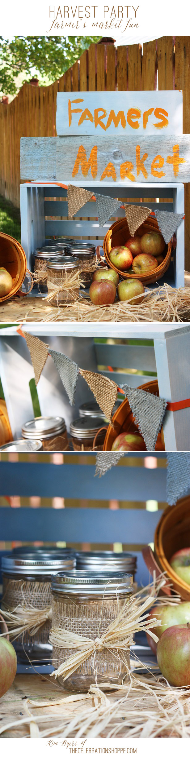 Farmers market for harvest party kim byers