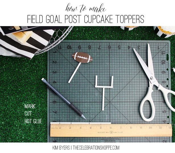 How To Make Field Goal Post Cupcake Toppers   Kim Byers, TheCelebrationShoppe.com