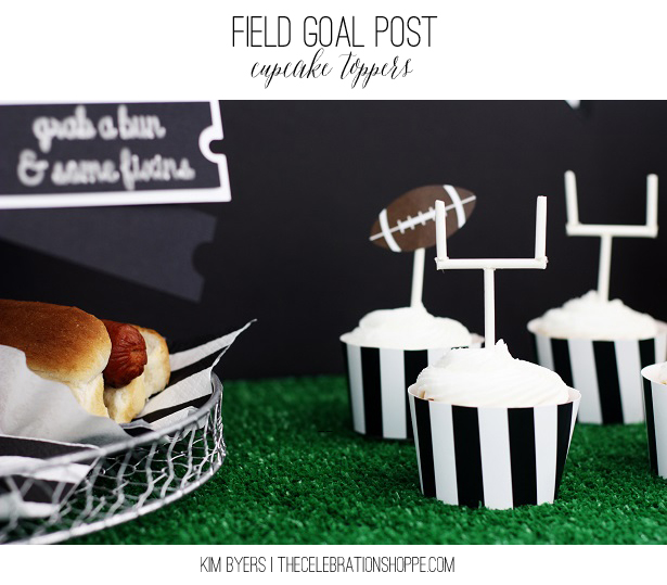 Field Goal Post Cupcake Toppers | Kim Byers, TheCelebrationShoppe.com