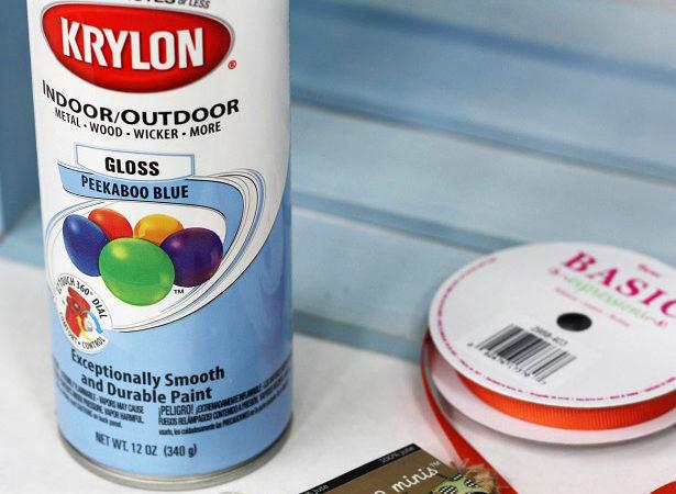 Mini burlap bunting spray paint craft kim byers