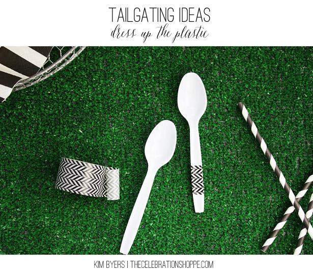 Tailgating Ideas - Dress Up Plastic Utensils | Kim Byers, TheCelebrationShoppe.com